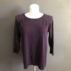 Apt. 9 Women's Purple 3/4 Sleeve Sweater XL